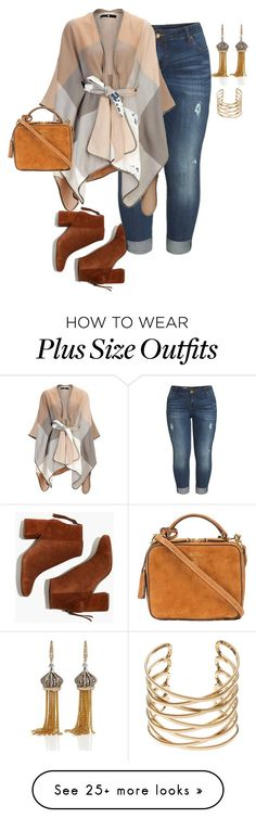 """Plus Shopping Day"" by xtrak on Polyvore featuring Madewell, KUT from the Kloth, Mark Cross and Annoushka"