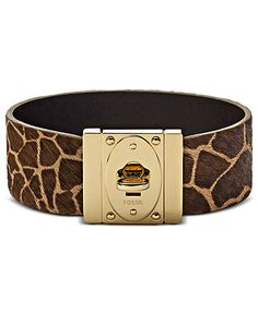 Fossil Bracelet, Brown Giraffe Printed Leather Wrist Bracelet - I really WANT Fossil Bracelet, Fossil Jewelry, Jewelry Bracelets, Jewelry Watches, Jewellery, Jewelry Accessories, Women Jewelry, Fashion Jewelry, Giraffe Clothes