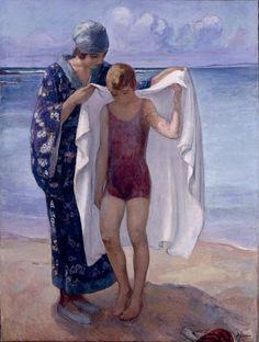 Henri Lebasque- La Sortie de Bain, Prefailles, 1922.