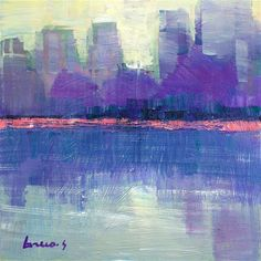 """Daily+Paintworks+-+""""Reflectionthe+morning""""+-+Original+Fine+Art+for+Sale+-+©+salvatore+greco"""