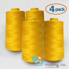 AK-Trading 4-Pack GOLD Serger Cone Thread (6000 yards eac... https://www.amazon.com/dp/B01B0T0RMU/ref=cm_sw_r_pi_dp_x_gE6tybAWGD3JR