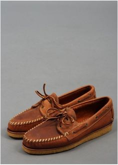 Red Wing Oxford Leather Boat Shoe - Copper