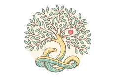 Tree the knowledge of good and evil by FoxysGraphic on @creativework247