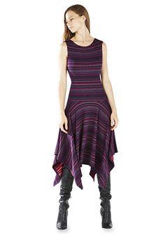 BCBGMAXAZRIA Eleyna Stripe Dress