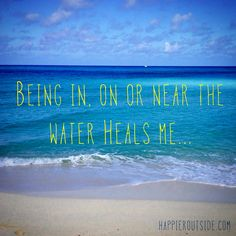 Being in, on, or near the water heals me. #happieroutside