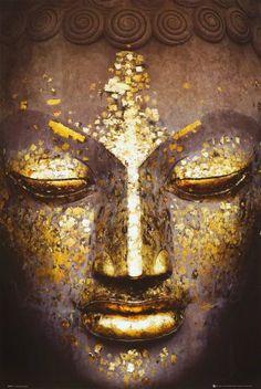 Buddha - Golden Face Inspirational Poster World Culture Poster Print, 24x36 $1.28