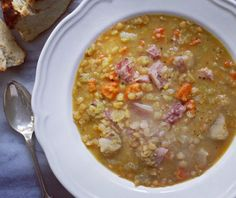 Newfoundland is known for their split pea soup and it's also popular in Quebec our next virtual road trip destination! It's an inexpensive comforting dish and particularly flavourful if you have a chunk of ham to toss in the pot. And of course dried peas and other pulses are a big Prairie crop! The recipe is up today on our website! (Link in profile.) #canada150