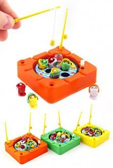 Mini Magnetic Fishing Game : Wind Up : Catch Fish : 1970