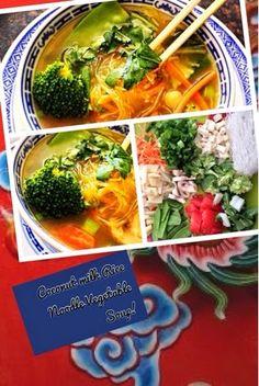 Homemade Veg Zone: Coconut Milk Rice Noodle Vegetable Soup