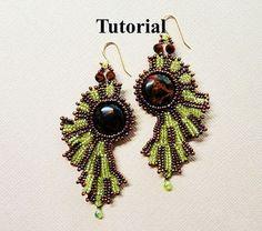 SUN BURST beaded earrings beading tutorial beadweaving pattern