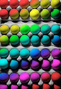 colored eggs..