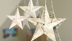 5 pointed origami star Christmas ornaments - step by step instructions. Also all kinds of cool ornaments on the page. Love the Paper Star Lantern, Book Crafts, Christmas Projects, Holiday Crafts, Paper Crafts, All Things Christmas, Holiday Fun, Christmas Holidays, Christmas Tree, Christmas Paper
