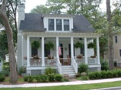 The Wiggins Street Cottage by Allison Ramsey Architects built at Habersham in Beaufort, South Carolina.