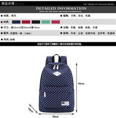 Korean style women bookbags canvas printing backpack cute  backpacks for teenage girls  spring and summer school bags #Happy4Sales #backpack #bag #handbags #highschool #L09582 #shoulderbags #YLEY