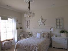 super pretty white guest room