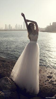 julie vino a j designers bridal s2017 sleeveless spagetti strap sweetheart neckline bustier heavily embellished bodice tulle skirt romantic a …
