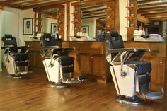Classic barber chairs at Harry Green, Essex