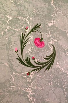 Ebru Art (Marbled Paper) Source by hodaelmallah Marble Painting, Wall Painting Decor, Marble Art, Fabric Painting On Clothes, Wildflower Drawing, Ebru Art, Turkish Art, Flower Backgrounds, Fantastic Art