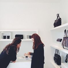 Kendallhelps ashopper at hereponymous minimalist-chic outpost in Santa Barbara. Photo by Arna Bee.