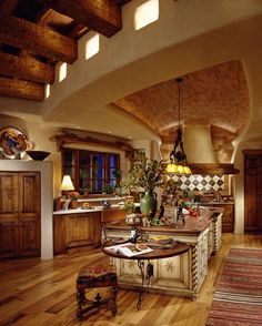 Kitchen with Brick Ceiling.  Bill Springer and Associates.