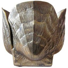 Check out this item at One Kings Lane! Brass Seashell Planter