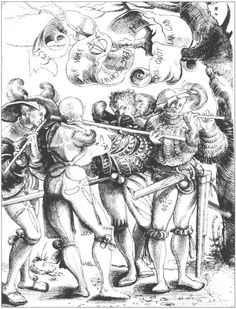 Four Fifers by Urs Graf, 1523