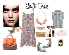 """Shift Dress"" by gaya-vas ❤ liked on Polyvore featuring Topshop, Dorothy Perkins, Estée Lauder, Tory Burch, Versace, Gucci, Steve Madden and Chanel"