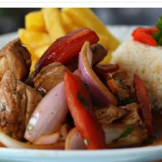 Lomo saltado: Peruvian food at its finest. Yum.