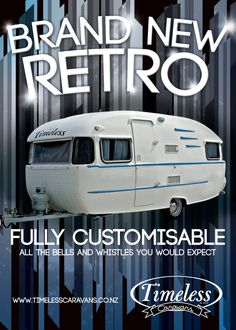Bells and Whistles - retro inspired NEW caravan.. Love this.. Xx