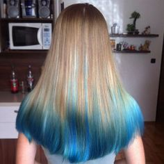 blue ombre for brown blonde hair