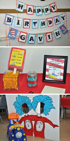 G's Dr. Seuss First Birthday Party Mama Say What?!Mama Say What?!