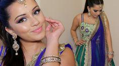 ♔ Beauty Video - tutorials: Bright Diwali Indian Makeup Tutorial 2015   Kaushal Beauty