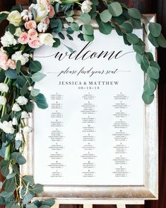 Tables 3 Columns 4 Sizes Wedding Seating Chart Template Rustic Seating Chart Welcome Seating Sign Find your seat Seating Poster Seating Chart Wedding Template, Seating Plan Wedding, Wedding Table, Seating Plans, Rustic Seating Charts, Table Seating Chart, Find Your Seat Sign, Wedding Welcome, Decoration Table