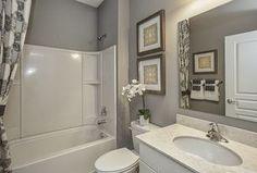 Traditional Full Bathroom with Botticino Fiorito Marble Countertop, Arizona Tile, High ceiling, Flush, Rain Shower Head