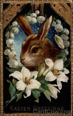 Bunny Surrounded by Lilies