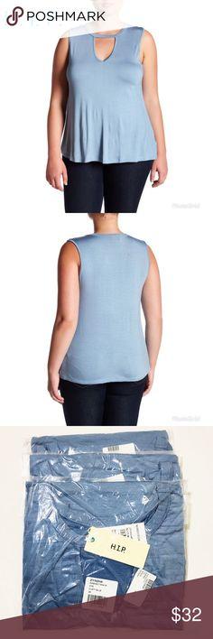 NWT H.I.P. Women's Blue Tank Plus Size 3X Soft NWT