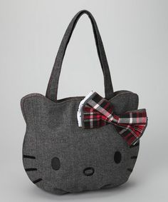 Take a look at this Gray Hello Kitty Herringbone Bag by Hello Kitty on #zulily today!