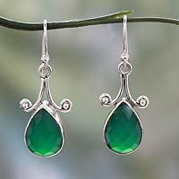 Onyx Jewellery – Green Onyx Earring, Sterling Silver,Dangle Earring – a unique product by Midas-Jewelry on DaWanda Sea Glass Jewelry, Heart Jewelry, Gemstone Jewelry, Silver Jewellery, Diy Jewellery, Sterling Silver Dangle Earrings, Sterling Silver Pendants, Jewelry Shop, Jewelry Gifts