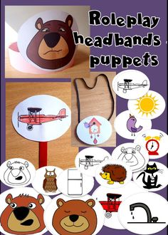 Graphic templates in black and white and colour to make into headbands, stick puppets or necklaces. Great for dramatising the story! Get these and more crafts, worksheets, flashcards and games in the Peace at Last Activity Pack. Literacy Stations, Literacy Skills, Peace At Last, Sequencing Cards, Paper Fans, Crafts For Kids To Make, Mini Books, Craft Activities, Small Groups