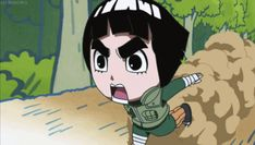 Rock Lee running forever. he is so cute right here.