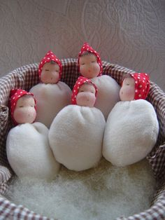 waldorf crafts | Sleeping Toadstool Baby | Waldorf Craft Ideas