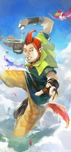 Skyward Sword  can't believe I'm saying this but... Groose actually looks epically BA...