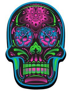 Black Sugar Skull Magnet – Spirit Halloween