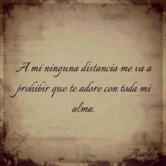 ni la distancia