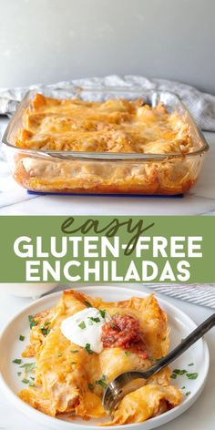 Gluten-Free Enchiladas that are easy to make and require minimal ingredients. You're going to love this gluten-free enchiladas recipe once you see how simple it is.