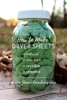 4 ingredients + 5 steps for homemade nontoxic dryer sheets! is part of Diy laundry - Conventional dryer sheets have a nasty list of negative health effects, but these easy and affordable nontoxic dryer sheets are the perfect alternative! Homemade Cleaning Products, Cleaning Recipes, House Cleaning Tips, Natural Cleaning Products, Cleaning Hacks, Diy Hacks, Cleaning A Dryer, Cleaning Cloths, Household Products