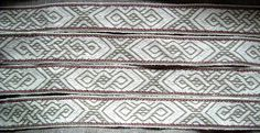 Tablet woven. Orignal pattern made by Louise Ström