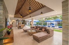 Freedom Villa Living And Dining Area   Petitenget, Bali