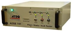 The ATEQ ADSE 741 avionics test equipment is a high performance three channel Ps, Pt and AoA stand-alone test bench. This ADSE 741 device is engineered to be used in the workshop or in the laboratory to test and calibrate all air data equipment such as altimeters, vertical speed indicators, air speed indicators, MACH-meter, air data computers specific probes and sensors.