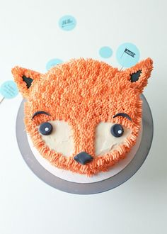 #DIY Fox Cake Decorating Tutorial